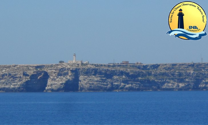 A view of the lighthouse at Capo Grecale and of the Observatory from the sea